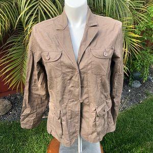 Brown Gloria Vanderbilt Blazer size XL